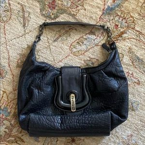 Fendi Soft black leather hobo bag